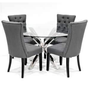 Khloe Dining Set With 4 Chairs