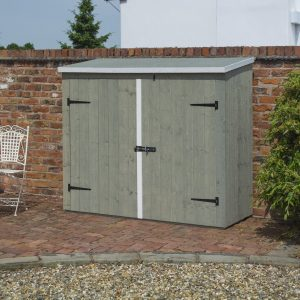 Kristopher 6 Ft. W x 3 Ft. D Pent Wooden Bike Shed