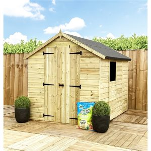 Kuske 5 ft. W x 3 ft. D Solid Wood Garden Shed