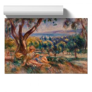 Landscape with Figures by Pierre-Auguste Renoir - Unframed Painting on MDF