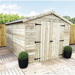 Purtee 6 ft. W x 12 ft. D Solid Wood Garden Shed