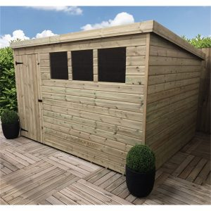 Radovanova 10 ft. W x 7 ft. D Solid Wood Garden Shed