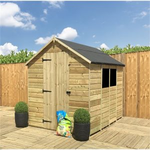 Radslavice 8 ft. W x 11 ft. D Solid Wood Garden Shed