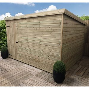 Reczkowski 10 ft. W x 4 ft. D Solid Wood Garden Shed
