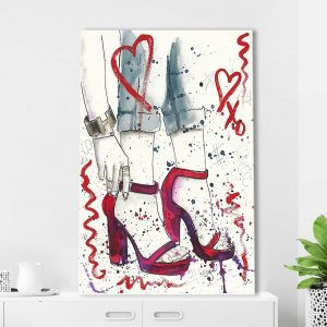 Red Shoes by Jodi - Wrapped Canvas Painting