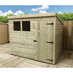 Relic 8 ft. W x 6 ft. D Solid Wood Garden Shed