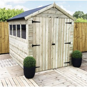 Ruella 8 ft. W x 8 ft. D Solid Wood Garden Shed