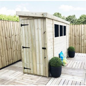 Ryanne 7 ft. W x 3 ft. D Solid Wood Garden Shed