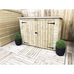 Ryson 7 ft. W x 3 ft. D Solid Wood Garden Shed