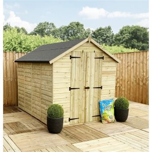 Shamong 5 ft. W x 3 ft. D Solid Wood Garden Shed