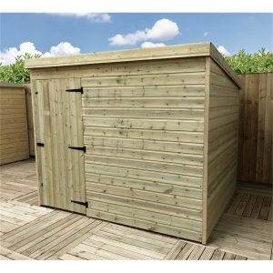 Shannondale 8 ft. W x 7 ft. D Solid Wood Garden Shed
