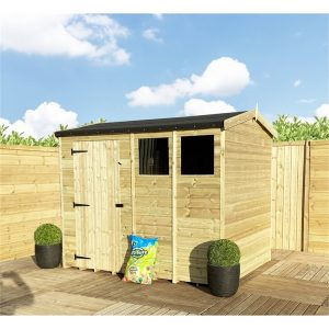 Sieghard 5 ft. W x 5 ft. D Solid Wood Garden Shed