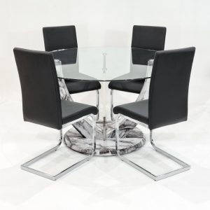 Titus Dining Set with 4 Chairs