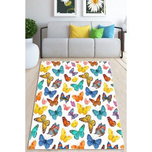 Vickery Butterfly Valley Shaggy Yellow/White/Blue Rug