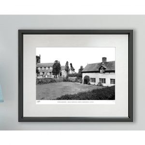'Wrenbury, Oak House and Church C1955' - Picture Frame Photograph Print on Paper